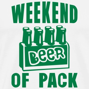 weekend of pack beer alcool quote  Aprons - Men's Premium T-Shirt