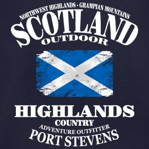 Highlands - Scotland Vintage Flag Pullover & Hoodies - Männer Bio-T-Shirt