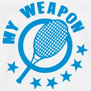 raquette tenis my weapon 1 Tops - Camiseta premium hombre