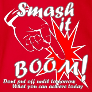 Smash it Boom Achieve Today - Organic Short-sleeved Baby Bodysuit