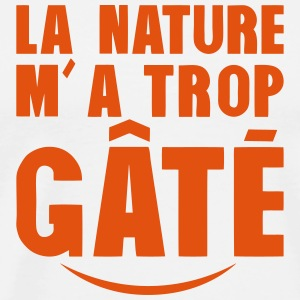 la nature ma trop gate citation sourire Tabliers - T-shirt Premium Homme