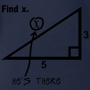 find x he s there mathematics humor T-Shirts - Baby Bio-Kurzarm-Body