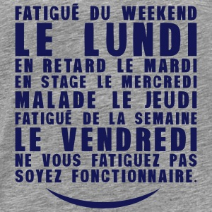 fatigue lundi retard stage malade Manches longues - T-shirt Premium Homme
