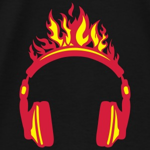 Headphones flame fire music 2004 Hoodies & Sweatshirts - Men's Premium T-Shirt