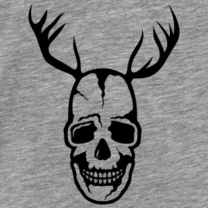 skull Death Head Wood Deer Tops - Men's Premium T-Shirt