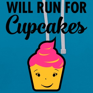 Will Run For Cupcakes T-shirts - Contrast hoodie