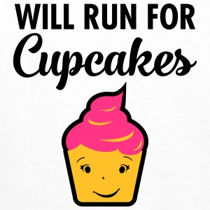 Will Run For Cupcakes Sportsklær - Premium hettegenser for menn