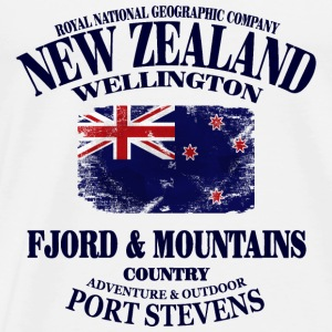 Fjord & Mountains - New Zealand Vintage Flag Sportbekleidung - Männer Premium T-Shirt