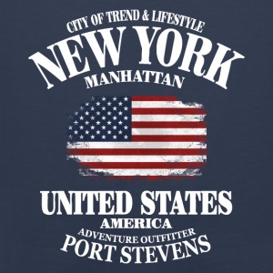 New York  - USA Vintage Flag Pullover & Hoodies - Männer Premium Tank Top