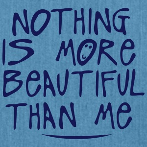 nothing is more beautiful quote T-Shirts - Shoulder Bag made from recycled material
