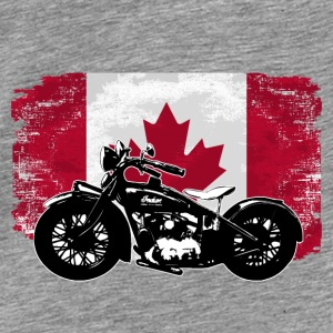 Motocycle - Maple Leaf - Canada Vintage Flag Pullover & Hoodies - Männer Premium T-Shirt