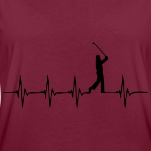 Heartbeat - Golf - Frauen Oversize T-Shirt