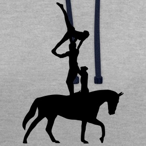 equestrian vaulting T-Shirts - Contrast Colour Hoodie
