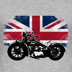 Motorcycle - Union Jack - UK Vintage Flag Pullover & Hoodies - Männer Slim Fit T-Shirt