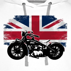 Motorcycle - Union Jack - UK Vintage Flag T-Shirts - Männer Premium Hoodie