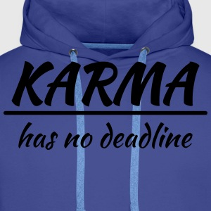 Karma has no deadline T-skjorter - Premium hettegenser for menn