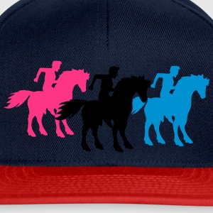 race team buddies 3 equestrian rider riding ross k T-Shirts - Snapback Cap