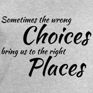 Wrong choices, right places T-shirts - Sweatshirt herr från Stanley & Stella