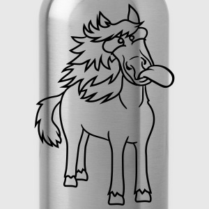 crazy funny grimace beautiful pony stallion riding T-Shirts - Water Bottle