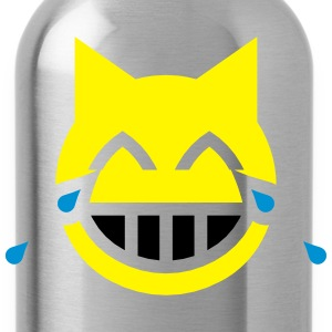 Tears of Joy Emoji Cat Shirts - Water Bottle