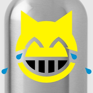 Tears of Joy Emoji Cat T-Shirts - Water Bottle
