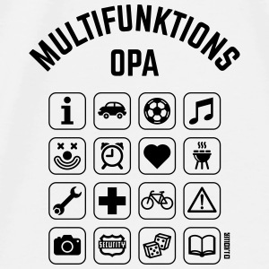 Multifunktions Opa (16 Icons) Sonstige - Männer Premium T-Shirt