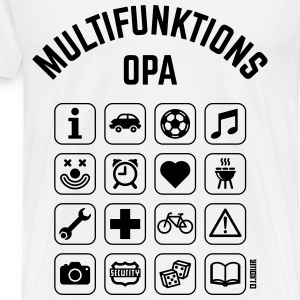 Multifunktions Opa (16 Icons) Pullover & Hoodies - Männer Premium T-Shirt
