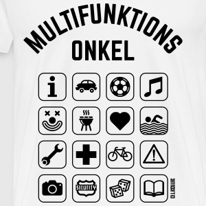 Multifunktions Onkel (16 Icons) Pullover & Hoodies - Männer Premium T-Shirt