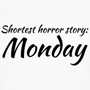 Shortest horror story: Monday Kopper & tilbehør - Premium langermet T-skjorte for menn