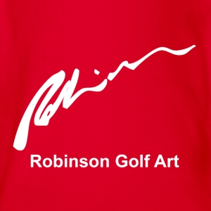 Robinson Golf Art White Logo Shirts - Organic Short-sleeved Baby Bodysuit