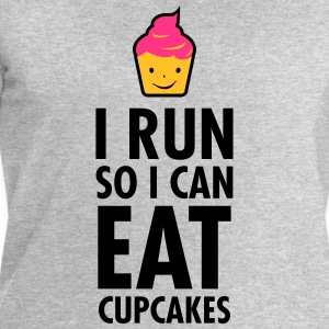 I Run So I Can Eat Cupcakes T-Shirts - Men's Sweatshirt by Stanley & Stella