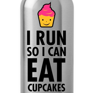 I Run So I Can Eat Cupcakes T-Shirts - Water Bottle