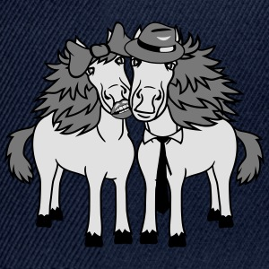 couple love couple in love 2 horse mare stallion m T-Shirts - Snapback Cap
