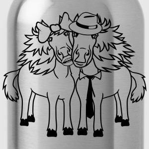 couple love couple in love 2 horse mare stallion m T-Shirts - Water Bottle