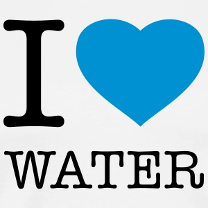 I LOVE WATER - Männer Premium T-Shirt