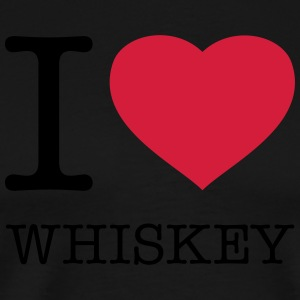 I LOVE WHISKEY   Aprons - Men's Premium T-Shirt