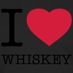 I LOVE WHISKEY   Aprons - Men's Premium Longsleeve Shirt