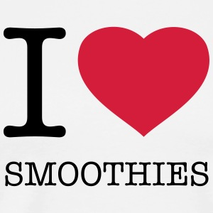 I LOVE SMOOTHIES  Aprons - Men's Premium T-Shirt