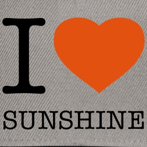I LOVE SUNSHINE T-shirts - Snapback cap