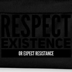 respect existence or expect resistance T-Shirts - Kids' Backpack