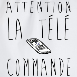 Attention la télé commande...  Slogan, Manif, Nu - Sac de sport léger