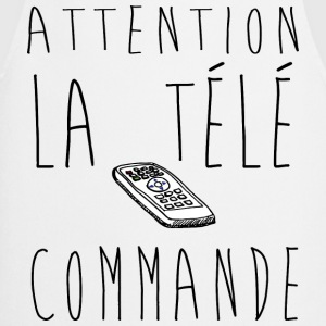 Attention la télé commande...  Slogan, Manif, Nu - Tablier de cuisine
