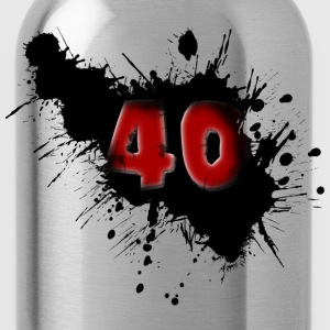 40th birthday Tops - Water Bottle