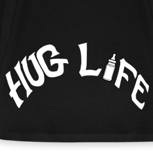 Hug Life White On Black  - Men's Premium T-Shirt