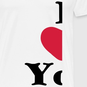 i love you geteilt links für zwillinge Baby Bodys - Männer Premium T-Shirt