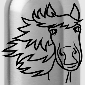 face head beautiful horse pony stallion riding whi T-Shirts - Water Bottle