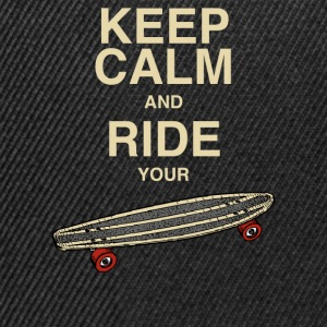 MännerShirt Keep calm and ride your board - Snapback Cap