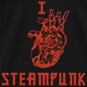 I LOVE STEAMPUNK  Tops - Männer Premium T-Shirt