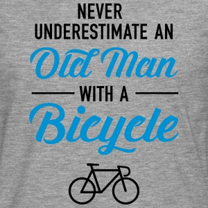 Old Man - Bicycle T-Shirts - Men's Premium Longsleeve Shirt