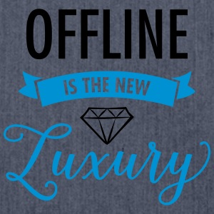 Offline Is The New Luxury T-Shirts - Schultertasche aus Recycling-Material